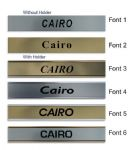 Cairo Clock Name Plate |World Time Zone City Wall clocks Sign custom Plaque